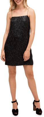 Kate Spade Metallic Fringe Mini Shift Dress