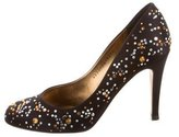 Gina Embellished Satin Pumps
