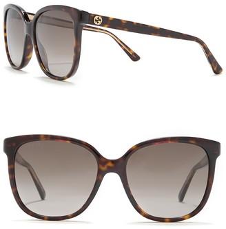 Gucci 55mm Oversize Square Sunglasses