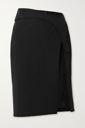 Thierry Mugler Tech-scuba Skirt - Black