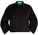 Toga Contrast-collar satin jacket