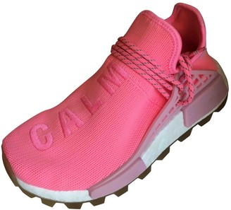Adidas X Pharrell Williams NMD Hu Pink Cloth Trainers