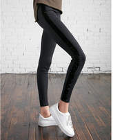 Express high waisted velvet stripe ponte leggings