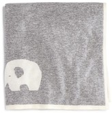 Bloomie's Infant Boys' Cashmere Elephant Intarsia Blanket - One Size