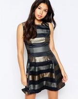 AX Paris Metallic Stripe Skater Dress