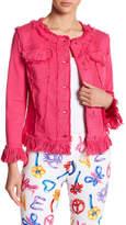 Love Moschino Giubbino Frayed Denim Jacket