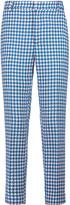 Stella Jean Houndstooth cotton slim-leg pants