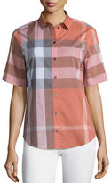 Burberry Short-Sleeve Cotton Check Shirt
