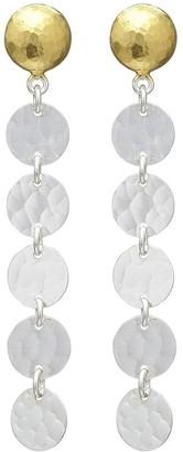 Gurhan 24kt gold Lush Stiletto drop earrings