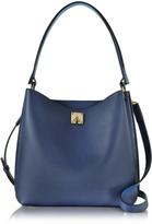 MCM Milla Blue Leather Medium Hobo Bag