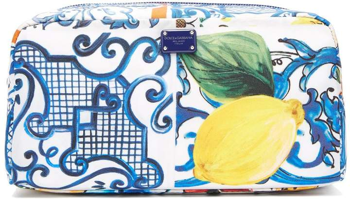 Dolce & Gabbana Majolica-print make-up bag