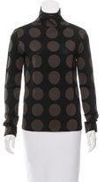 Burberry Polka Dot Wool-Blend Top