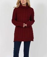 burgundy turtleneck sweater - ShopStyle