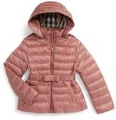 Burberry Janie Hooded Down Jacket (Little Girls & Big Girls)