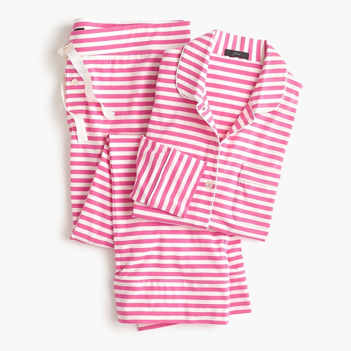 Dreamy cotton pajama set in pink stripe