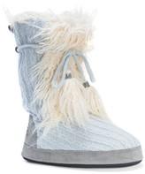 Muk Luks Jewel Faux Fur Trimmed Slipper
