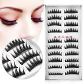 ZJchao False Eyelash, 20pcs Natural Soft Long Fake Eye Lashes False Eyelashes Extension Beauty Makeup (, 14mm)
