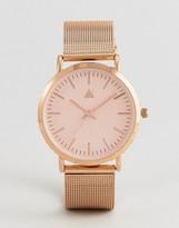 Asos Rose Gold Clean Mesh Strap Watch