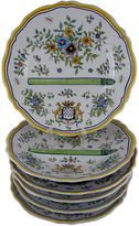 One Kings Lane Vintage Desvres Faience Asparagus Plates, S/6
