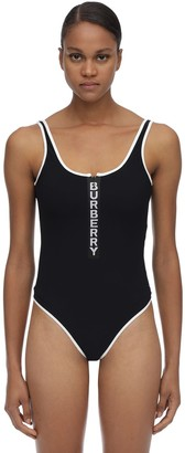 Burberry Logo Stretch Lycra Bodysuit
