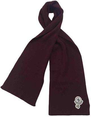 Moncler Burgundy Wool Scarves & pocket squares
