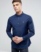 Lyle & Scott Stretch Slim Fit Shirt Buttondown Eagle Logo in Navy