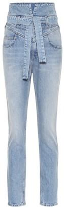 ATTICO High-rise slim paperbag jeans