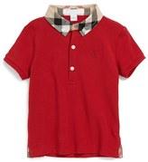 Burberry 'William' Cotton Polo (Baby Boys)