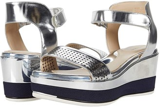 Cole Haan Grand Ambition Wedge Sandal (Silver Specchio Leather) Women's Shoes