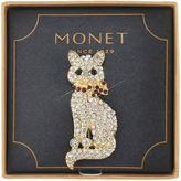 MONET JEWELRY Monet Crystal Cat Pin