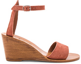 K. Jacques Sardaigne Wedge in Rose