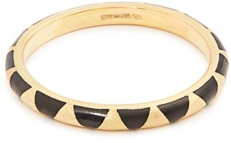 Marc Alary Enamel & Yellow Gold Ring - Womens - Black