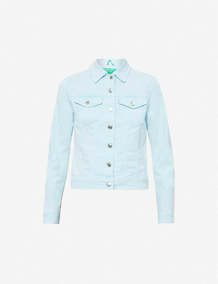 Benetton Spread collar stretch organic-cotton denim jacket