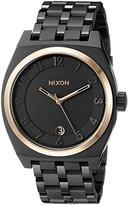 Nixon Women's A325957 Monopoly Analog Display Japanese Quartz Black Watch