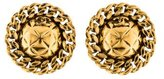 Chanel Quilted Disc Earrings