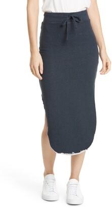 Frank And Eileen Tie Waist Cotton Fleece Skirt