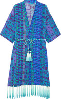 Matthew Williamson Printed Silk Crepe De Chine Kimono - Cobalt blue