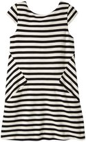 Kate Spade Stripe Bow Dress (Toddler/Kid) - Black/Cream - 3
