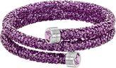 Swarovski Crystaldust double bangle, dark purple