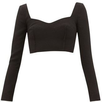 Emilia Wickstead Jules Sweetheart-neck Crepe Top - Black