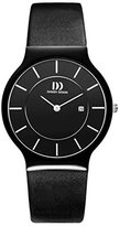 Danish Design Men's 36mm Leather Band Ceramic Case S. Sapphire Quartz Analog Watch IQ13Q964