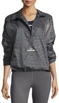 Stella McCartney Cycling Adizero Pullover Jacket, Granite
