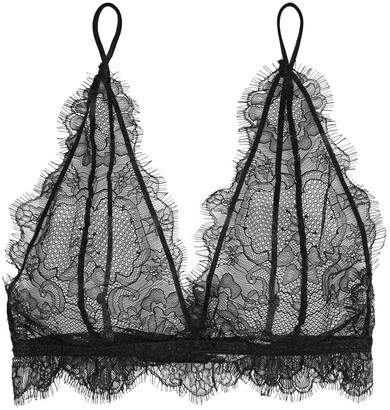 Anine Bing - Lace Soft-cup Bra - Black