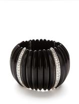 Kenneth Jay Lane Black & Crystal Stretch Bracelet