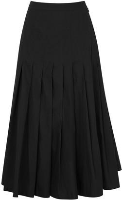 Three Graces Elisha black pleated cotton skirt