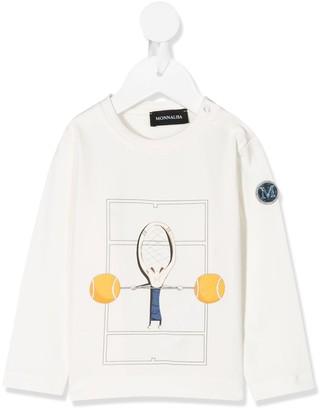 MonnaLisa tennis print T-shirt