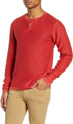 Vintage 1946 Acid Wash Henley Sweater