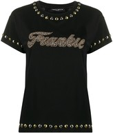 Frankie Morello studded crew neck T-shirt