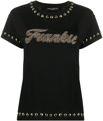 Frankie Morello studded crew neck T-shirt