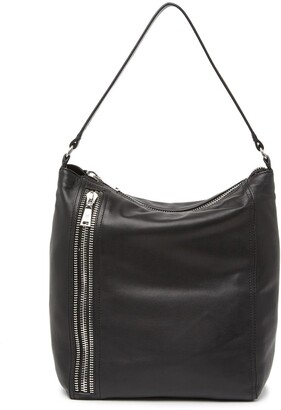 Frye Lexi Leather Zipper Trim Hobo Bag